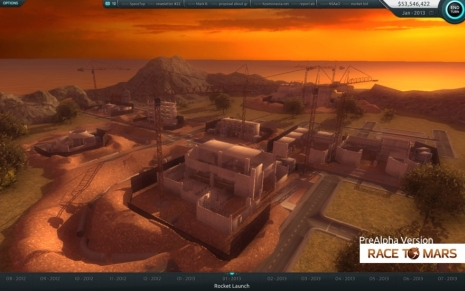 Gameplay gry Race to Mars (Credits: Intermarum)