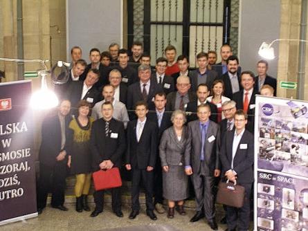 Uczestnicy konferencji Polska w kosmosie, wczoraj, dziś, jutro (Credits: Damian Mayer)